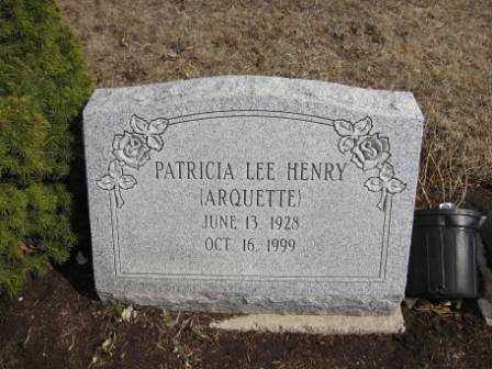 HENRY, PATRICIA LEE ARQUETTE - Union County, Ohio | PATRICIA LEE ARQUETTE HENRY - Ohio Gravestone Photos