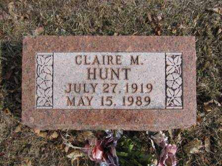 HUNT, CLAIRE M. - Union County, Ohio | CLAIRE M. HUNT - Ohio Gravestone Photos