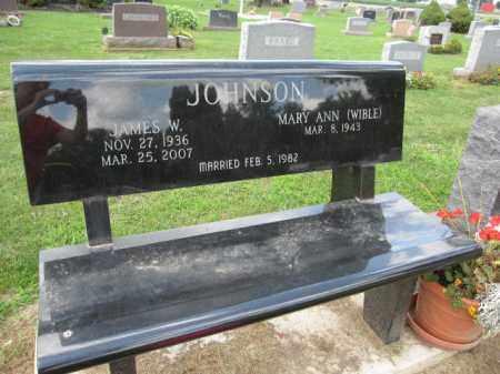 JOHNSON, JAMES W. - Union County, Ohio | JAMES W. JOHNSON - Ohio Gravestone Photos
