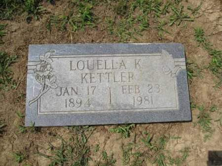 KETTLER, LOUELLA K. - Union County, Ohio | LOUELLA K. KETTLER - Ohio Gravestone Photos