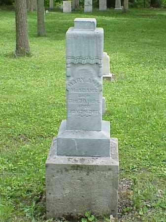 MCADAMS, MARY ANN - Union County, Ohio | MARY ANN MCADAMS - Ohio Gravestone Photos