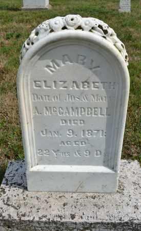 MCCAMPBELL, MARY ELIZABETH - Union County, Ohio | MARY ELIZABETH MCCAMPBELL - Ohio Gravestone Photos