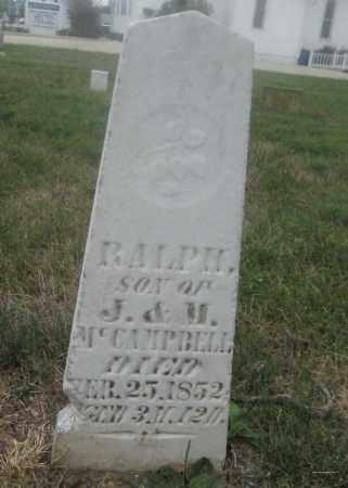 MCCAMPBELL, RALPH - Union County, Ohio   RALPH MCCAMPBELL - Ohio Gravestone Photos