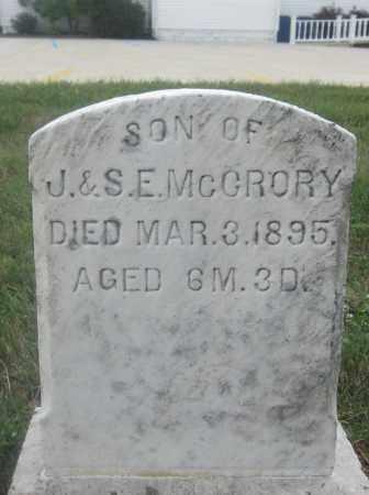 MCCRORY, CURTIS - Union County, Ohio   CURTIS MCCRORY - Ohio Gravestone Photos