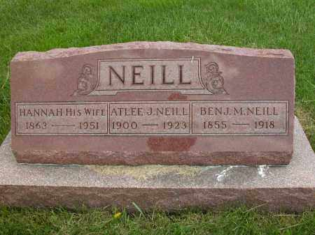 NEILL, HANNAH - Union County, Ohio   HANNAH NEILL - Ohio Gravestone Photos
