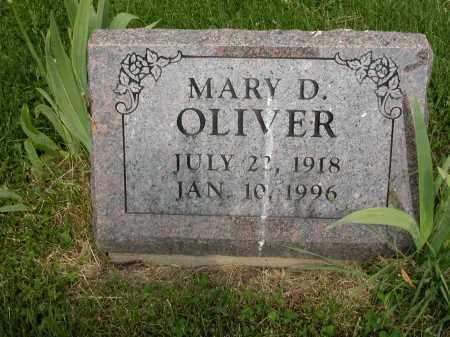 OLIVER, MARY D. - Union County, Ohio | MARY D. OLIVER - Ohio Gravestone Photos