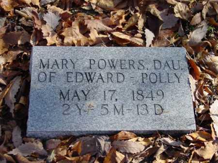POWERS, MARY - Union County, Ohio   MARY POWERS - Ohio Gravestone Photos