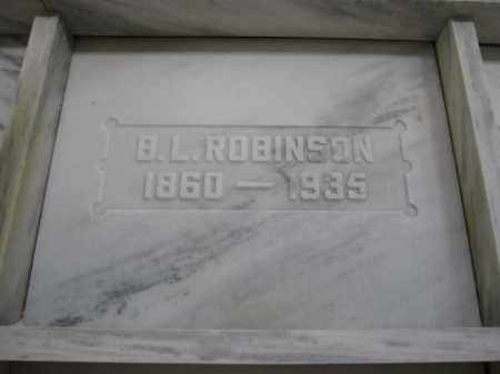 ROBINSON, B.L. - Union County, Ohio | B.L. ROBINSON - Ohio Gravestone Photos