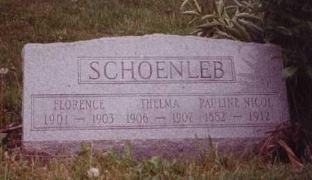 SCHOENLEB, FLORENCE - Union County, Ohio | FLORENCE SCHOENLEB - Ohio Gravestone Photos