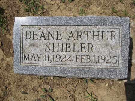 SHIBLER, DEANE ARTHUR - Union County, Ohio   DEANE ARTHUR SHIBLER - Ohio Gravestone Photos