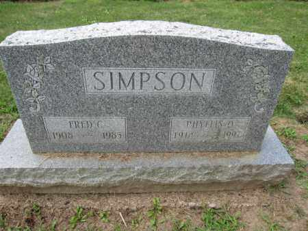 SIMPSON, PHYLIS O. - Union County, Ohio | PHYLIS O. SIMPSON - Ohio Gravestone Photos