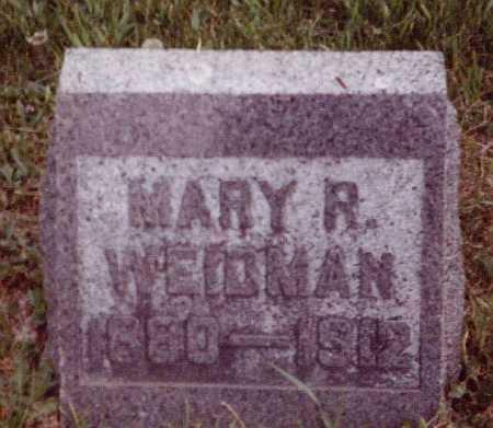 WEIDMAN, MARY R - Union County, Ohio   MARY R WEIDMAN - Ohio Gravestone Photos