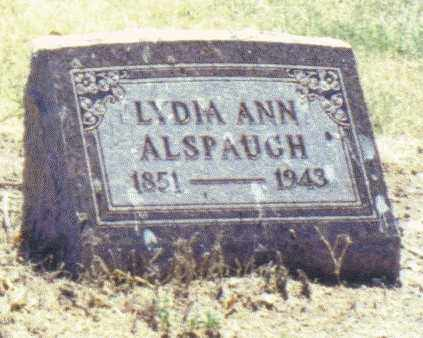 ALSPAUGH, LYDIA ANN - Van Wert County, Ohio   LYDIA ANN ALSPAUGH - Ohio Gravestone Photos