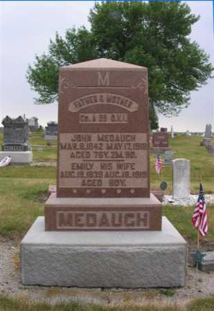 MEDAUGH, JOHN & EMILY - Van Wert County, Ohio | JOHN & EMILY MEDAUGH - Ohio Gravestone Photos