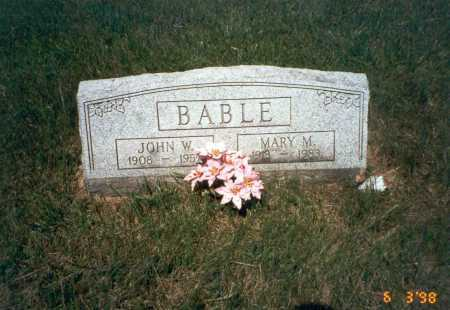 BABLE, MARY M. - Vinton County, Ohio   MARY M. BABLE - Ohio Gravestone Photos