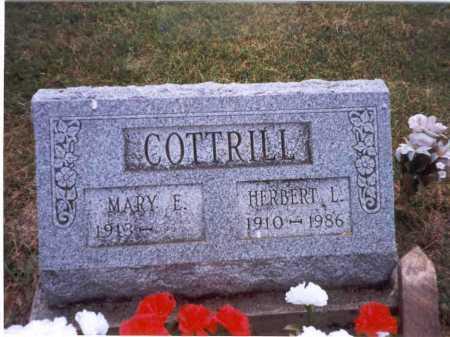 COTTRILL, MARY E. - Vinton County, Ohio | MARY E. COTTRILL - Ohio Gravestone Photos