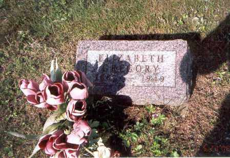GREGORY, ELIZABETH - Vinton County, Ohio   ELIZABETH GREGORY - Ohio Gravestone Photos