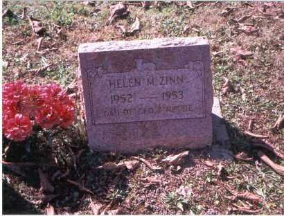 ZINN, HELEN MARIE - Vinton County, Ohio   HELEN MARIE ZINN - Ohio Gravestone Photos