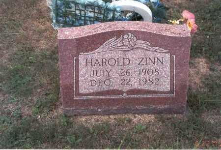 ZINN, HAROLD - Vinton County, Ohio | HAROLD ZINN - Ohio Gravestone Photos