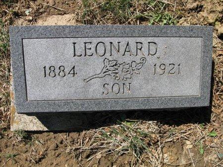 ZINN, LEONARD - Vinton County, Ohio   LEONARD ZINN - Ohio Gravestone Photos