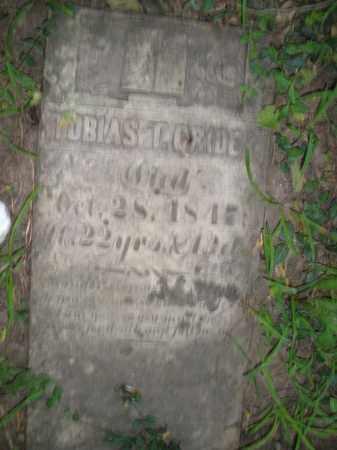 CRIDER, TOBIAS - Warren County, Ohio   TOBIAS CRIDER - Ohio Gravestone Photos