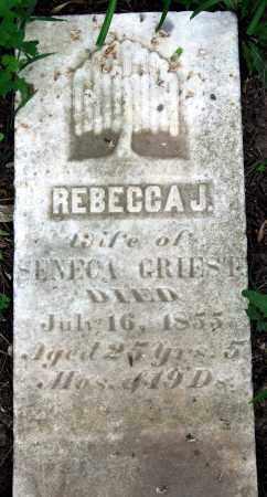 GRIEST, REBECCA J. - Warren County, Ohio   REBECCA J. GRIEST - Ohio Gravestone Photos