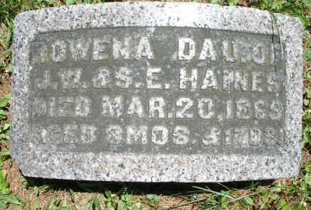 HAINES, ROWENA - Warren County, Ohio | ROWENA HAINES - Ohio Gravestone Photos