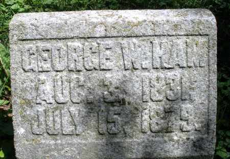 HAM, GEORGE W. - Warren County, Ohio | GEORGE W. HAM - Ohio Gravestone Photos