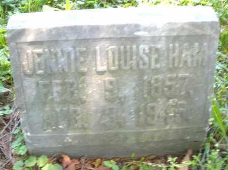 HAM, JENNIE LOUISE - Warren County, Ohio | JENNIE LOUISE HAM - Ohio Gravestone Photos