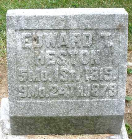 HESTON, EDWARD - Warren County, Ohio | EDWARD HESTON - Ohio Gravestone Photos