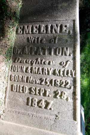 KELLY PATTON, EMELINE - Warren County, Ohio   EMELINE KELLY PATTON - Ohio Gravestone Photos
