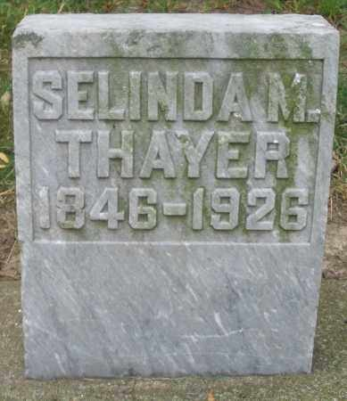 THAYER, SELINDA M. - Warren County, Ohio   SELINDA M. THAYER - Ohio Gravestone Photos