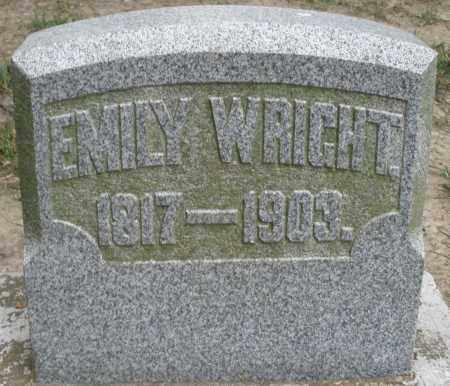 WRIGHT, EMILY - Warren County, Ohio | EMILY WRIGHT - Ohio Gravestone Photos