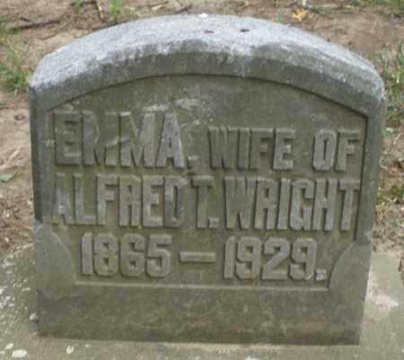 WRIGHT, EMMA - Warren County, Ohio   EMMA WRIGHT - Ohio Gravestone Photos