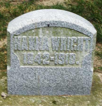 WRIGHT, HANNA - Warren County, Ohio   HANNA WRIGHT - Ohio Gravestone Photos