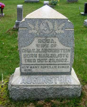 AUGENSTEIN, ROSA - Washington County, Ohio   ROSA AUGENSTEIN - Ohio Gravestone Photos