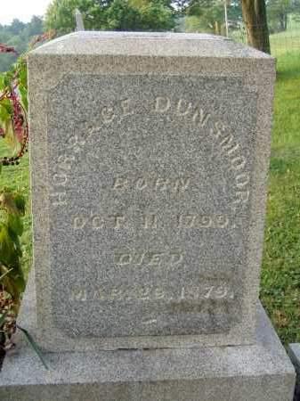 DUNSMOOR, HORACE - Washington County, Ohio   HORACE DUNSMOOR - Ohio Gravestone Photos