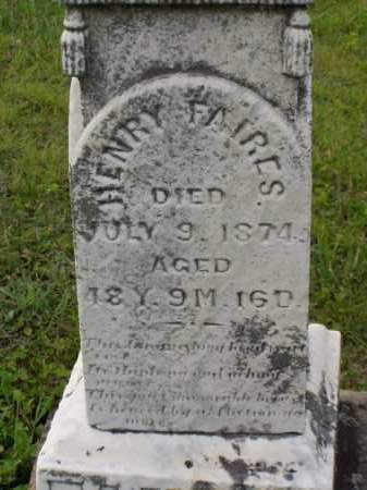 FAIRES, HENRY - Washington County, Ohio | HENRY FAIRES - Ohio Gravestone Photos