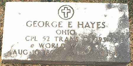 HAYES, GEORGE E. - Washington County, Ohio | GEORGE E. HAYES - Ohio Gravestone Photos