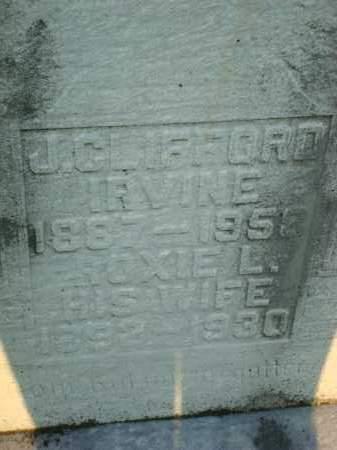 IRVINE, J. CLIFFORD - Washington County, Ohio | J. CLIFFORD IRVINE - Ohio Gravestone Photos