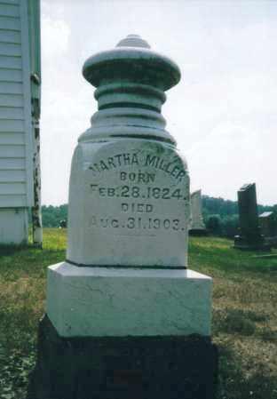 MILLER, MARTHA - Washington County, Ohio | MARTHA MILLER - Ohio Gravestone Photos
