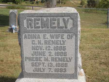 REMELY, ADINA E. AND PHEBE M. - Washington County, Ohio | ADINA E. AND PHEBE M. REMELY - Ohio Gravestone Photos