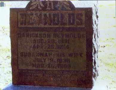 REYNOLDS, SUSANNAH - Washington County, Ohio | SUSANNAH REYNOLDS - Ohio Gravestone Photos