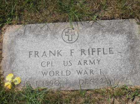 RIFFLE, FRANK F. - Washington County, Ohio | FRANK F. RIFFLE - Ohio Gravestone Photos