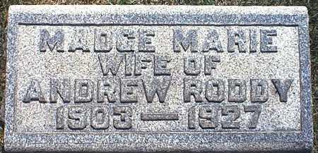 CARPENTER RODDY, MADGE MARIE - Washington County, Ohio | MADGE MARIE CARPENTER RODDY - Ohio Gravestone Photos