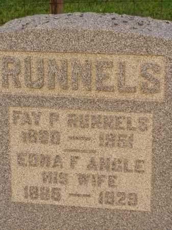 ANGLE RUNNELS, EDNA F. - Washington County, Ohio | EDNA F. ANGLE RUNNELS - Ohio Gravestone Photos