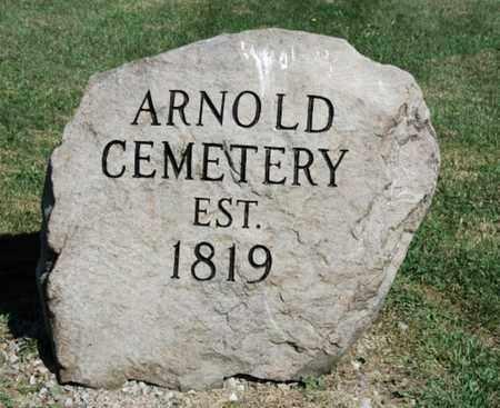 ARNOLD, CEMETERY SIGN - Wayne County, Ohio   CEMETERY SIGN ARNOLD - Ohio Gravestone Photos