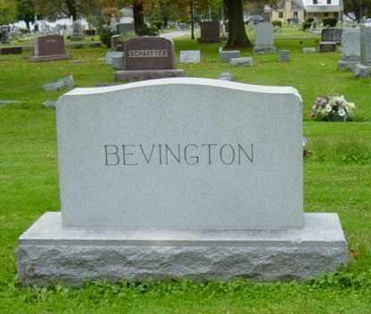 BEVINGTON, VALERIA E. - Wayne County, Ohio | VALERIA E. BEVINGTON - Ohio Gravestone Photos