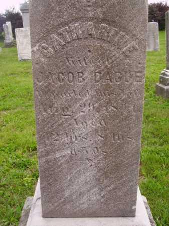 DAGUE, CATHARINE - CLOSE VIEW - Wayne County, Ohio   CATHARINE - CLOSE VIEW DAGUE - Ohio Gravestone Photos