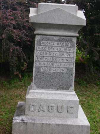 DAGUE, MARY ANN - MONUMENT - Wayne County, Ohio | MARY ANN - MONUMENT DAGUE - Ohio Gravestone Photos